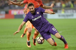 Astori was found dead on March 4, 2018, in Udine, where he was due to play a Serie A game between Udinese and Fiorentina. / AFP PHOTO / ANDREAS SOLARO