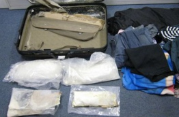Luggage of the couple arrested from Pakistan who were trying to smuggle drugs into Maldives