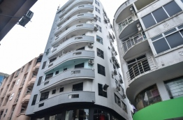 A building in Male : A young man fell to his death after falling from this building on March 11.