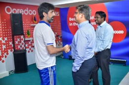 From the ceremony held to introduce Ooredoo's new postpaid packages. PHOTO: NISHAN ALI/MIHAARU