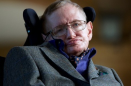 Renowned British physicist Stephen Hawking has died at age 76, a family spokesman said on March 14, 2018. / AFP PHOTO / ANDREW COWIE