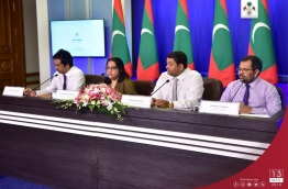Representatives of the government speaking at the press conference held at the President's Office on March 13, 2018. / PRESIDENT'S OFFICE PHOTO