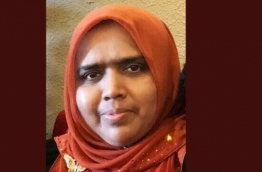 Fathimath Nasira, the wife of Supreme Court judge Ali Hameed.