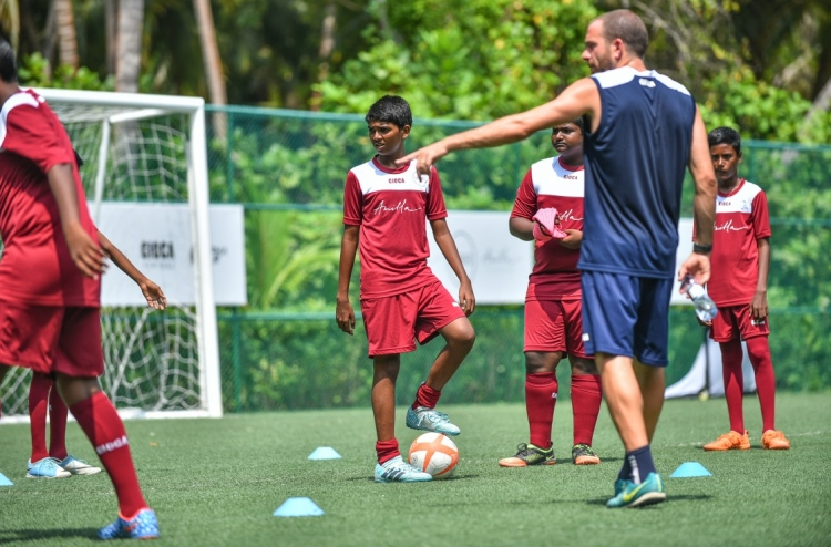 ... During a training session of the Easter Camp in Amilla Fushi resort on  April 2 bf148e6ee0232