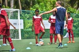 During a training session of the Easter Camp in Amilla Fushi resort on April 2, 2018. PHOTO: NISHAN ALI/MIHAARU