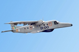 A Dornier maritime surveillance aircraft of India pictured in flight.
