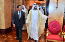President Yameen with UAE diplomats. PHOTO/PRESIDENT'S OFFICE.