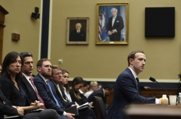 Facebook CEO and founder Mark Zuckerberg testifies during a US House Committee on Energy and Commerce hearing about Facebook on Capitol Hill in Washington, DC, April 11, 2018. / AFP PHOTO / SAUL LOEB
