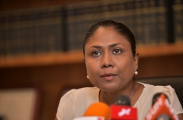 Lawyer Hisaan Hussain speaks to press. FILE PHOTO/MIHAARU