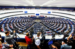 A meeting of the European Parliament. PHOTO/AFP