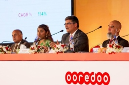 Board members of Ooredoo Maldives at the company's annual meeting in 2017. PHOTO/OOREDOO