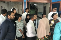 Some lawyers talking to the press. PHOTO/MIHAARU
