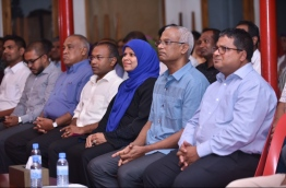 Members of the opposition coalition. PHOTO/HUSSAIN WAHEED/MIHAARU