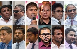 The 12 lawmakers that were declared disqualified by the Elections Commission. IMAGE/MIHAARU