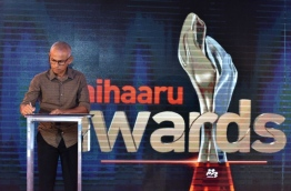 During the launching ceremony of Mihaaru Awards in May 2017. PHOTO: NISHAN ALI/MIHAARU