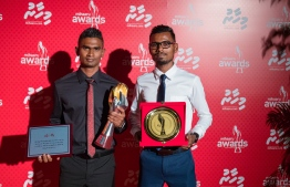 Paradise Island Resort, May 5, 2018: Runner Hassan Saaid (L) who won first place in Men's Individual Sports, and middle-distance runner Zaid Shareef who won third place. PHOTO/IMAGES.MV
