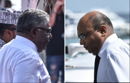 Former Chief Justice Abdulla Saeed and Former Judge Ali Hameed. PHOTO: MIHAARU