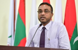 Former President of Anti-Corruption Commission Hassan Luthfee. He submitted a letter to Criminal Court claiming that he was intimidated and enforced by the state to testify in the court case against former Legal Affairs Minister at the President's Office Aishath Azima Shakoor. PHOTO: MIHAARU.