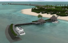Currently in the process of wrapping up construction, slated to open in October. PHOTO: EMERALD MALDIVES