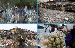 AFP presents a photo essay of 32 images by photographers relating to the plastic crisis gripping Asia. About eight million tonnes of plastic waste are dumped into the world's oceans every year - the equivalent of one garbage truck of plastic being tipped into the sea every minute... of every day. Over half comes from five Asian countries: China, Indonesia, the Philippines, Thailand and Vietnam, according to a 2015 study in Science journal. Search ASIA-ENVIRONMENT-WASTE-PLASTIC for the accompanying text and video. / AFP PHOTO / -