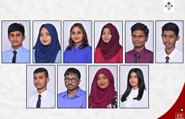 The students who achieved the top positions in the world in the A' Level Examinations held October 2017 and January 2018. PHOTO/PRESIDENT'S OFFICE