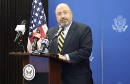 US Ambassador Atul Keshap speaks at the annual Iftar reception hosted by the US Embassy to the Maldives. PHOTO/EDITION