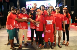 Two teams that took part in 'Ooredoo Masrace 2018' PHOTO: MIHAARU FILES