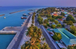 The island of Kudahuvadhoo, Dhaalu Atoll. PHOTO: MIHAARU FILES