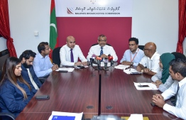 Maldives Broadcasting Commission Press Conference. PHOTO/NISHAN ALI /MIHAARU