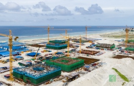 Aerial view of housing development in Hulhumale' Phase 2. PHOTO: HDC