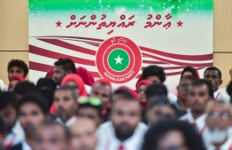 Jumhooree Party's Third Congress. The party announced that they will establish branched on every inhabited island in Maldives. PHOTO: NISHAN ALI/ MIHAARU