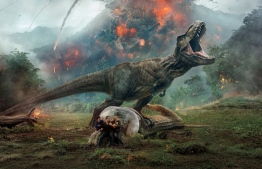 Official poster of Jurassic World: Fallen Kingdom.