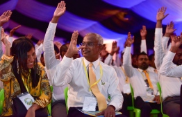 MDP congress held at Alif Alif atoll Ukulhas.