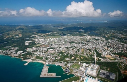 Birds eye view facing Camp Hansen in Okinawa which serves as a base for the U.S. Marine Corps. PHOTO: ASAHI SHIMBUN FILES