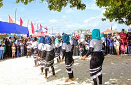 A performance at the opening ceremony of the annual Lhaviyani Turtle Festival held at Lh. Naifaru. PHOTO: HAWWA AMAANY ABDULLA/ THE EDITION