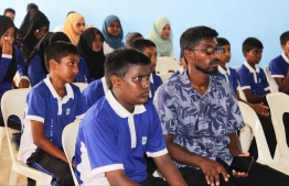 Students attending a presentation about some of the environmental issues. PHOTO: HAWWA AMAANY ABDULLA / THE EDITION