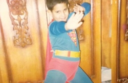 Childhood picture of Iby Shalabi dressed as Superman. PHOTO/IBY SHALABI