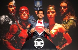Iby Shalabi at the opening of Madame Tussauds Justice League exhibition. PHOTO/IBY SHALABI