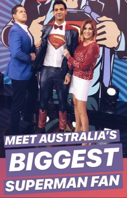 Iby Shalabi with the hosts of Channel 7's The Morning Show. PHOTO/IBY SHALABI