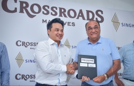 Ceremony held to award the watersports and recreation management for  Emboodhoo Lagoon Crossroads project, won by Best Dives Private Limited. PHOTO: NISHAN ALI/MIHAARU