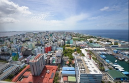 View of Male' City from the rooftop of Dharumavantha Hospital. PHOTO: HUSSAIN WAHEED / MIHAARU