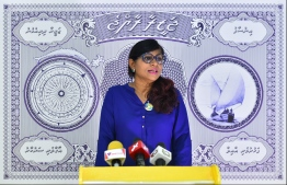Former MP and current Minister of Defence Mariya Ahmed Didi. PHOTO: HUSSAIN WAHEED / MIHAARU