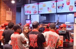 During the official opening ceremony of KFC Maldives on July 22, 2018. PHOTO/MIHAARU