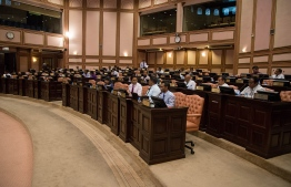A parliament sitting in proceess. PHOTO: PEOPLE'S MAJLIS