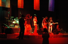 Athi and friend performs at the Bohemian Rainbow Concert 2006. PHOTO: AATHI