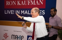 World's leading customer experience consultant Ron Kaufman grets attendees at the event. PHOTO: MAHRP