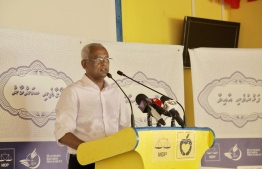 MDP oposition candidate Ibu ibrahim mohamed solih visit to L. Maavah , Presidential Election 2018
