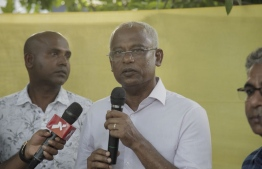 Ibrahim Mohamed Solih (Ibu) - the opposition presidential candidate. PHOTO: HUSSAIN WAHEED
