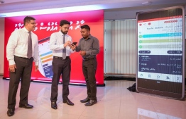 Home Minister Azleen Ahmed launches Ooredoo Maldives' 'My Ooredoo App' available in Dhivehi Language. PHOTO/OOREDOO