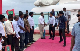 President Abdulla Yameen  has inaugurated the sewerage services system in Buruni Island, Kolhumadulu Atoll